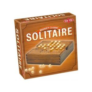 Tactic Games Solitaire - Wooden Classic Edition.