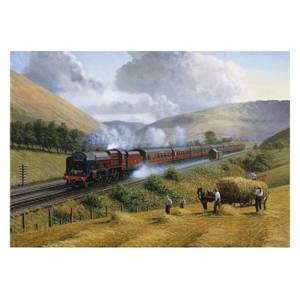 Wentworth Wooden Jigsaws LMS The Royal Scot ,Tebay Troughs.