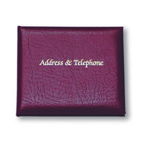 Cathian Small Leather Address & Telephone Book