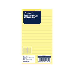 Filofax Yellow Ruled Notepaper Inserts