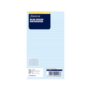 Filofax Blue Ruled Notepaper Inserts