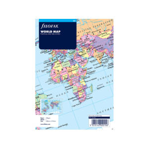 Filofax World Map Insert