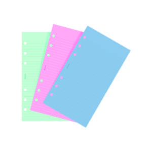 Filofax Fashion Coloured Ruled Notepaper Inserts