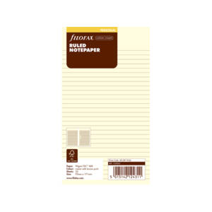 Filofax Cotton Cream Ruled Notepaper Inserts