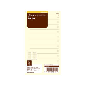 Filofax Cotton Cream To-Do Inserts