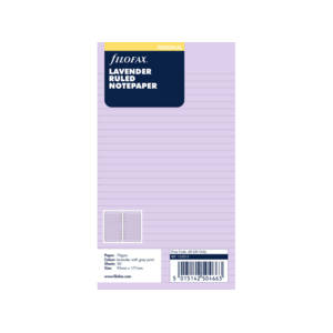 Filofax Lavender Ruled Notepaper Inserts