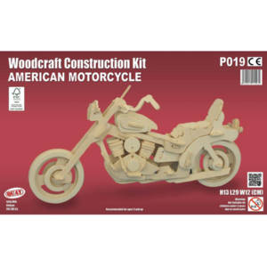 Quay American Motorcycle Woodcraft Construction Kit.