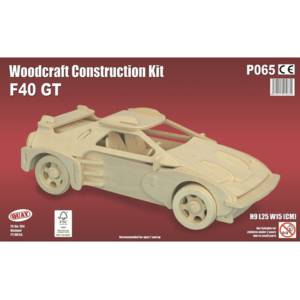 Quay Ferrari F40 GT Sports Car Woodcraft Construction Kit.