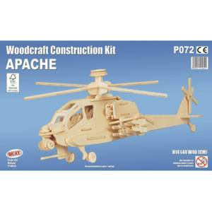 Quay Apache Helicopter Woodcraft Construction Kit.