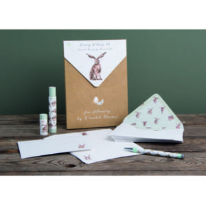 Wrendale luxury Letter Writing Set - 'Good Hare Day'