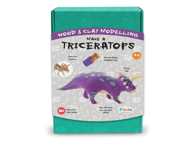 Fiesta Crafts Wood & Clay Modelling-Make a Triceratops