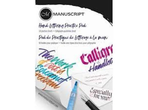 Buy manuscript calligraphy practice pad jespers of