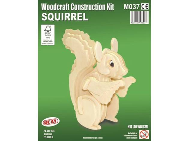 Quay Squirrel Woodcraft Construction Kit.